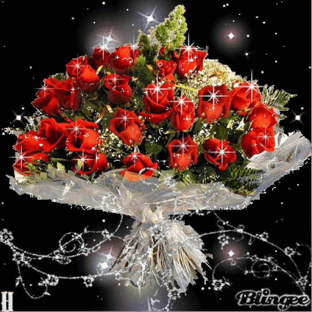 Красивые открытки цветы и блестящие букет