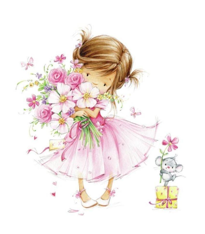 Аватарки, открытки с цветами для девочки