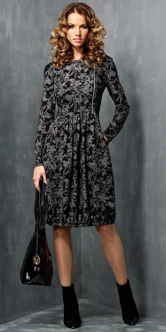 Фасоны платьев осенне зимних фото