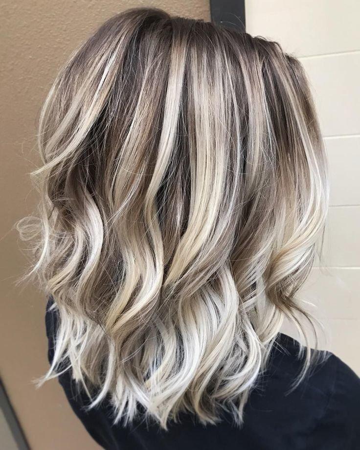 Окрашивание балаяж холодный блонд