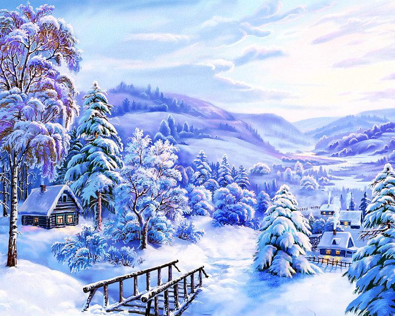 Открытки с зимой красивые, завтра отпуск