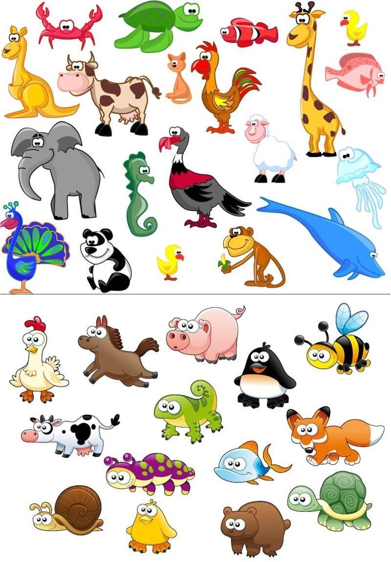Картинки, забавные картинки для детей вектор
