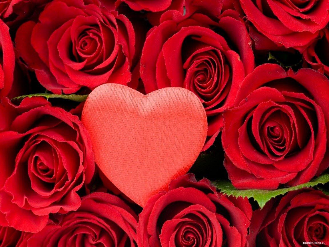Картинка с розами и сердечками