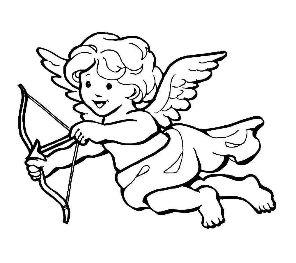 Картинки купидонов и ангелов для распечатки черно белые, гифы образцы открыток