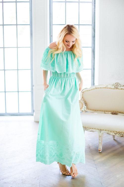 86df071615c Платье из шитья в пол цвета мяты» — карточка пользователя ok ...