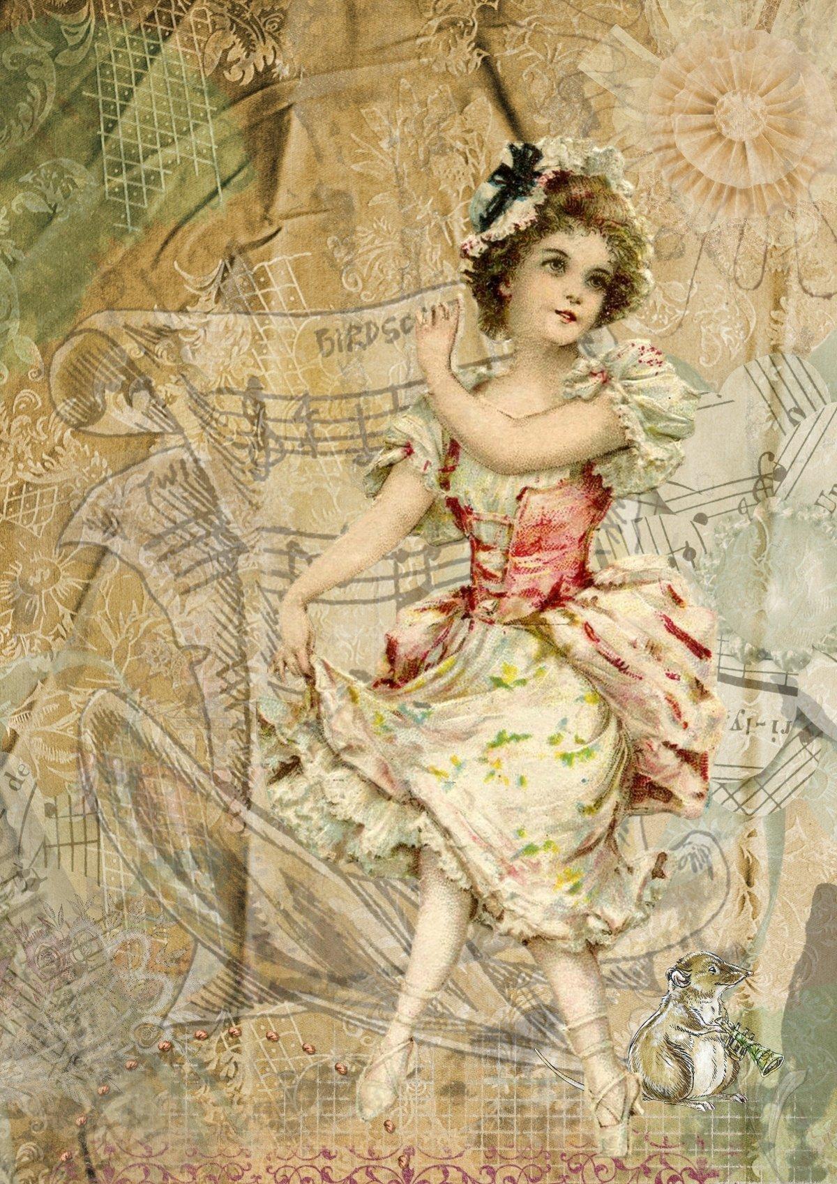 Картинки для винтажных открыток, любимому выздоравливай картинки
