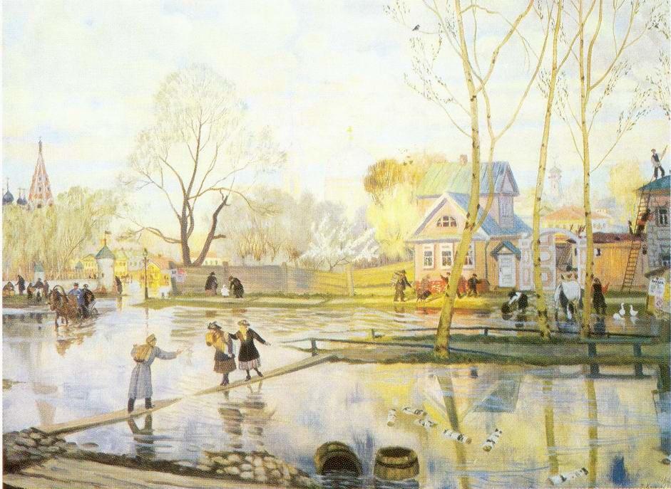 Открытка, картинки о весне красивые художников