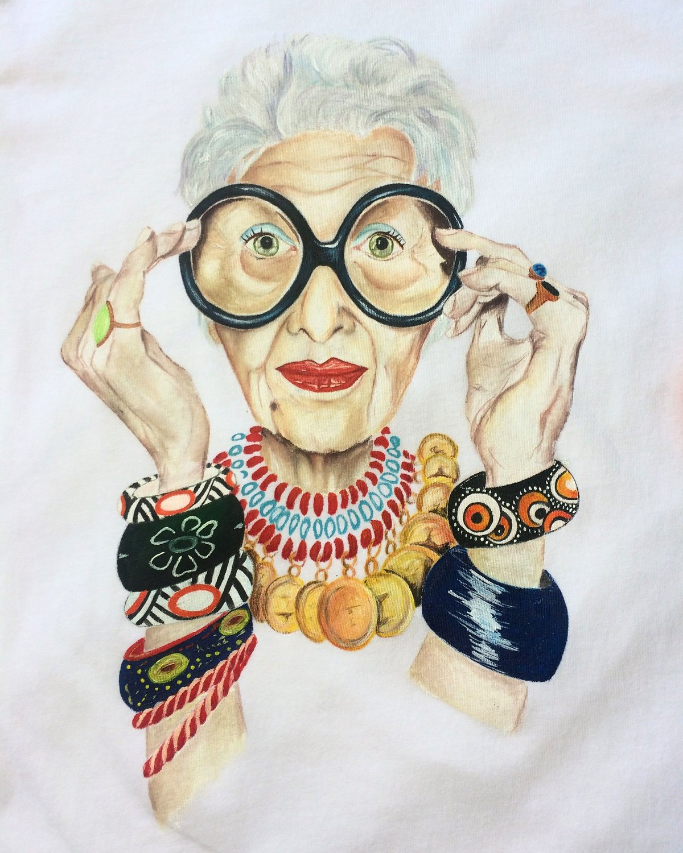 Бабушка прикольные рисованные картинки