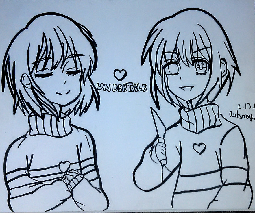 quot Undertale Frisk and Chara Coloring