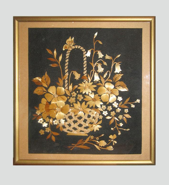 Открытки с соломкой, полевые цветы букетах