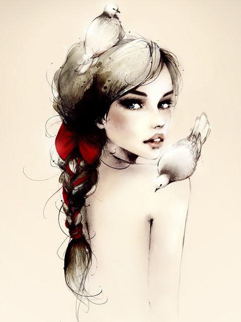Иллюстрированные картинки для аватарок девушек, шикарно