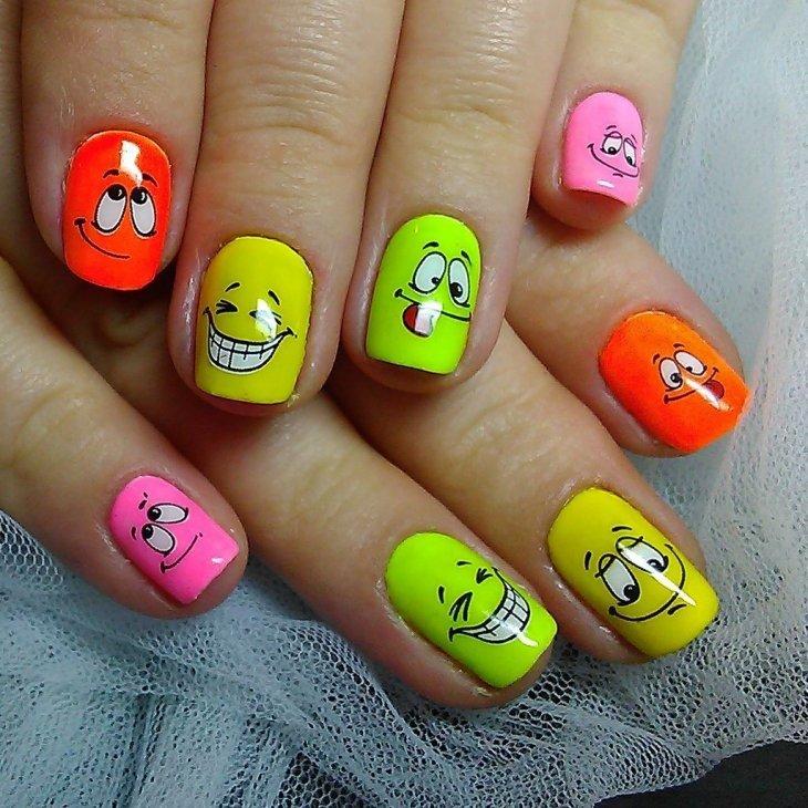 Фото рисунки ногтях смешные, кировск