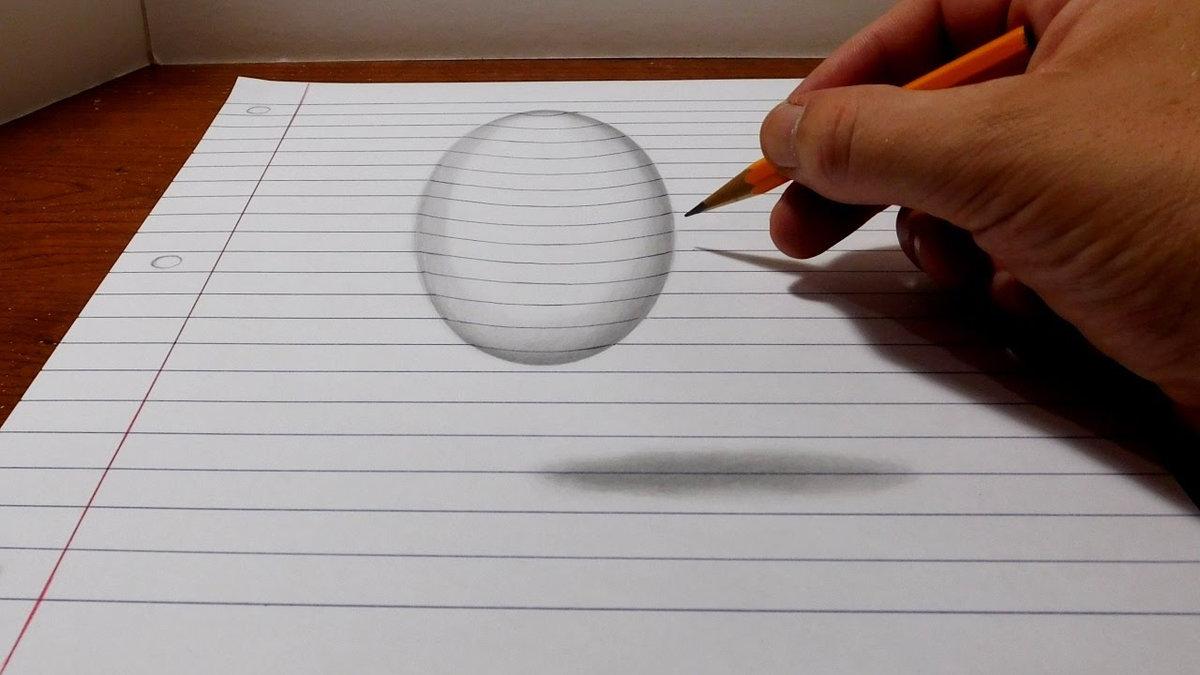 Легкие рисунки объемные