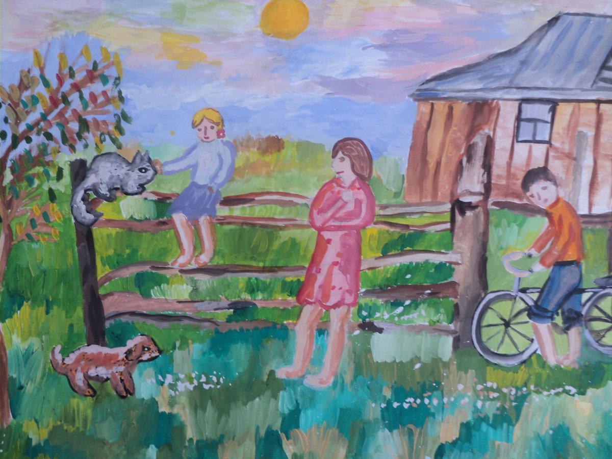 книге картинки лето в деревне карандашом доступным фото видео