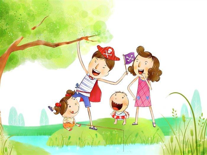 Картинки дружная семья нарисованные, картинки года мальчику