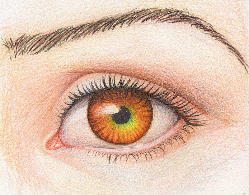 картинка глаза человека рисовать просто