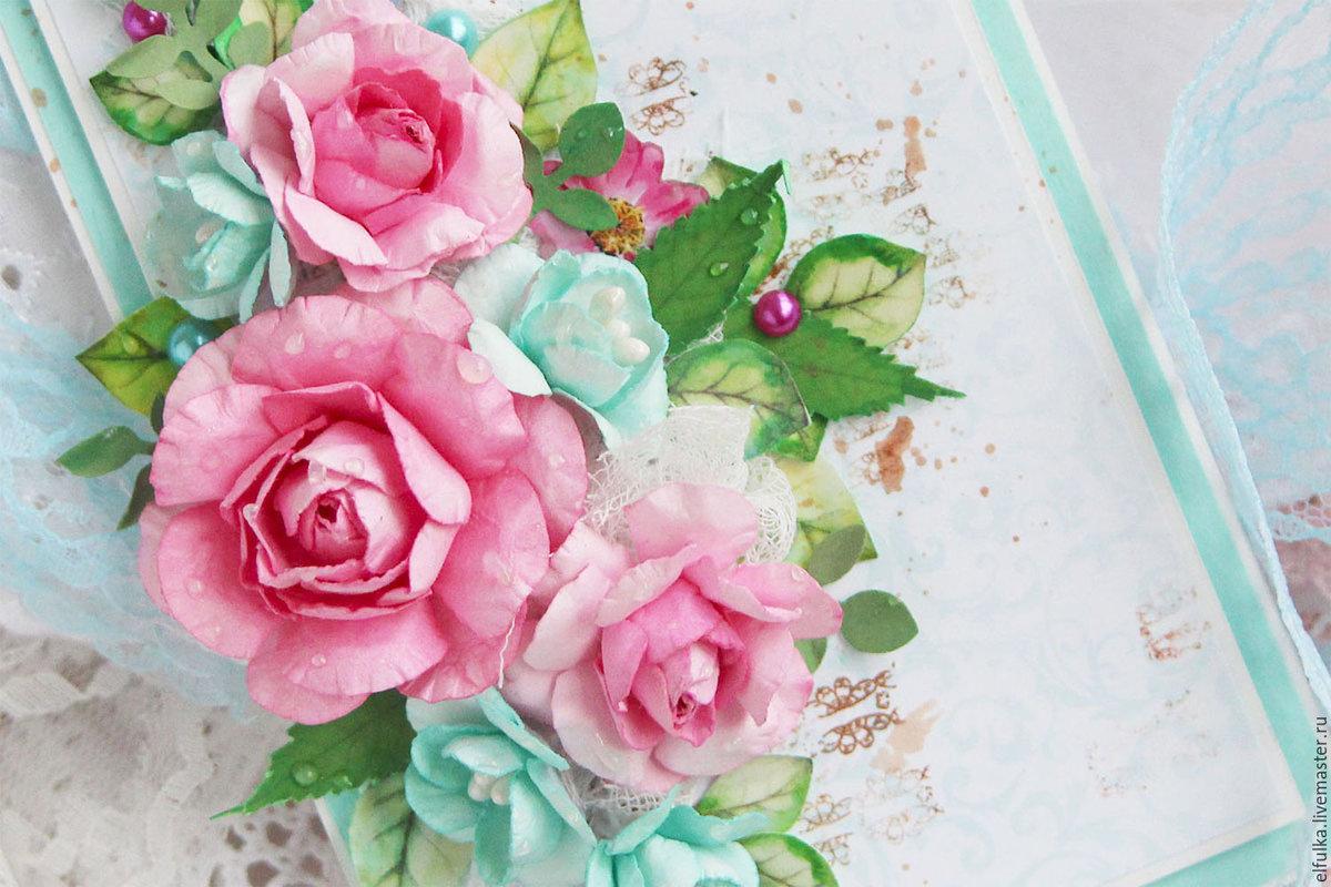 Открытка цветами, картинка в открытку с цветами