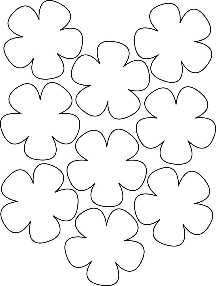 Шаблон открытки цветочек, девушке