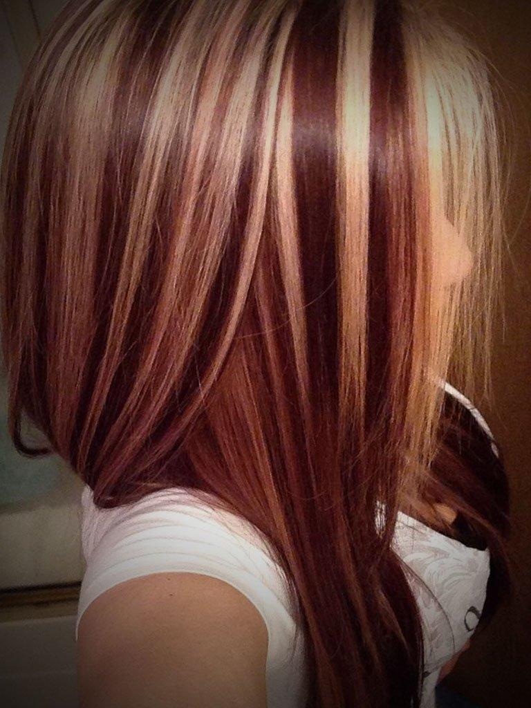 правде, мелирование красных волос фото фонд