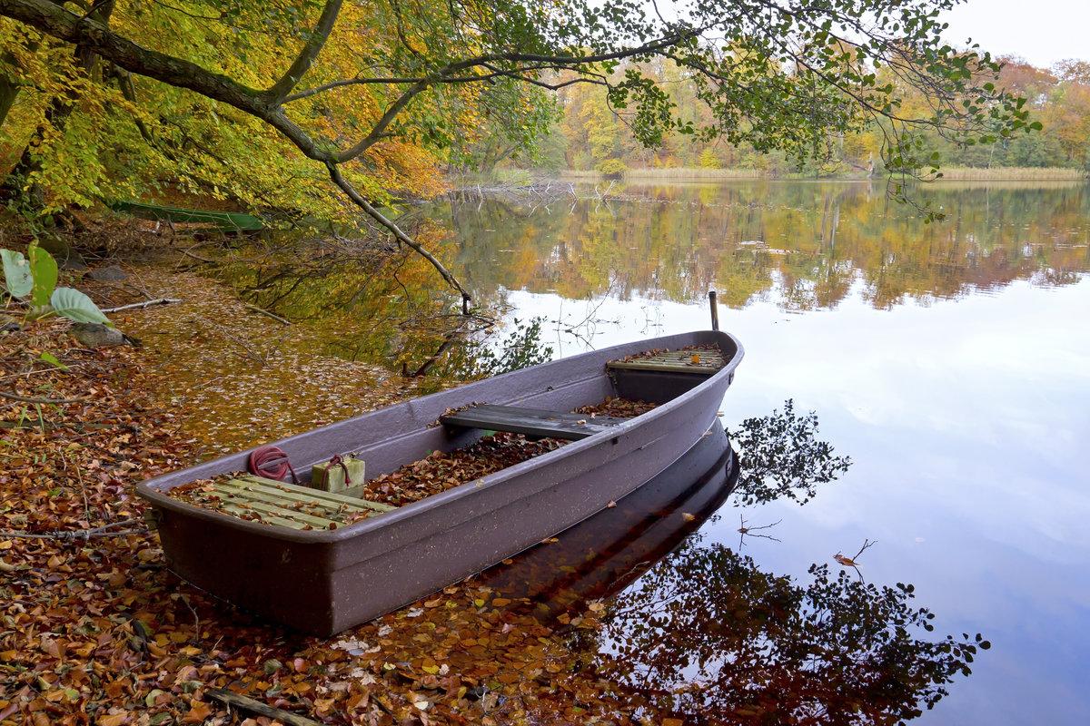 лодки осень картинки для