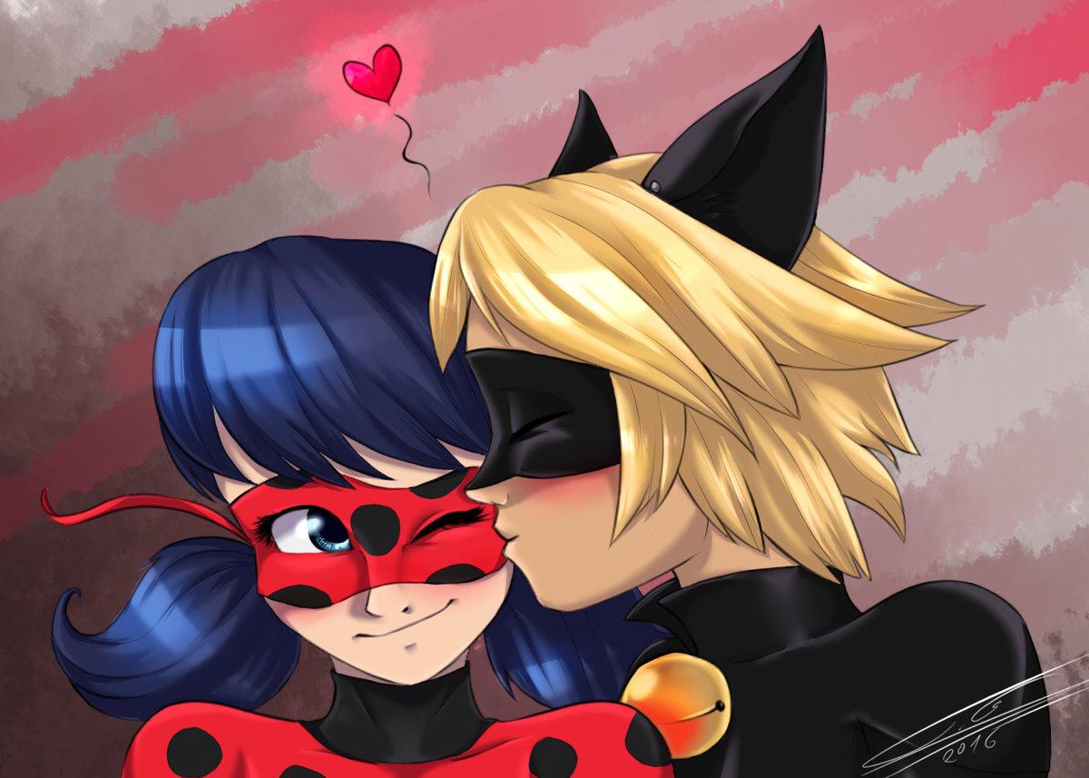 фото леди баг и супер кот поцелуи