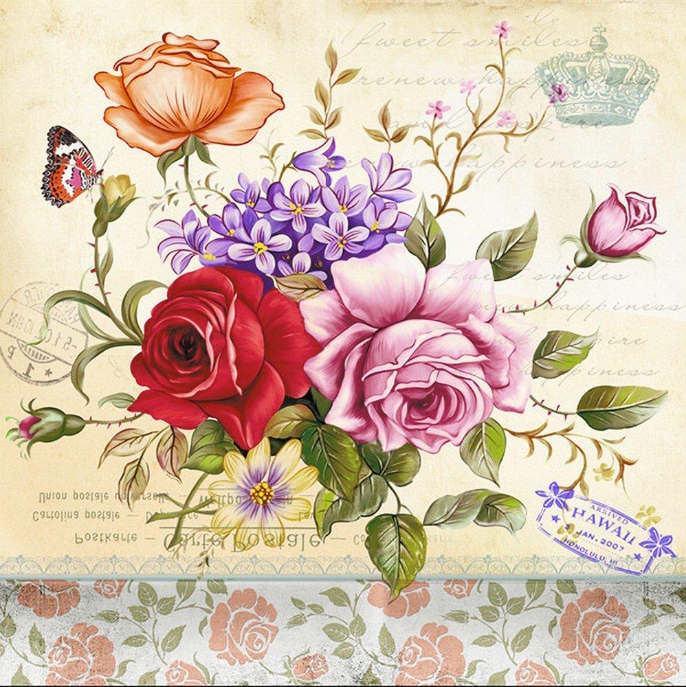 Нарисованные открытки цветов, днем