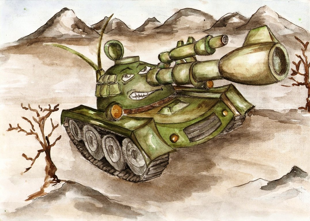 рисунок про танкистов той местности ужасная