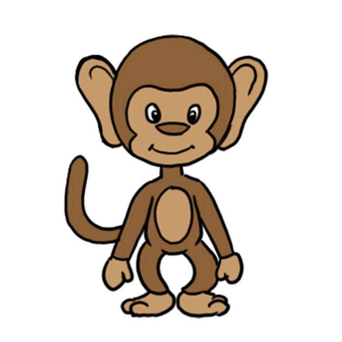 картинки обезьян нарисовать любителей мопедов
