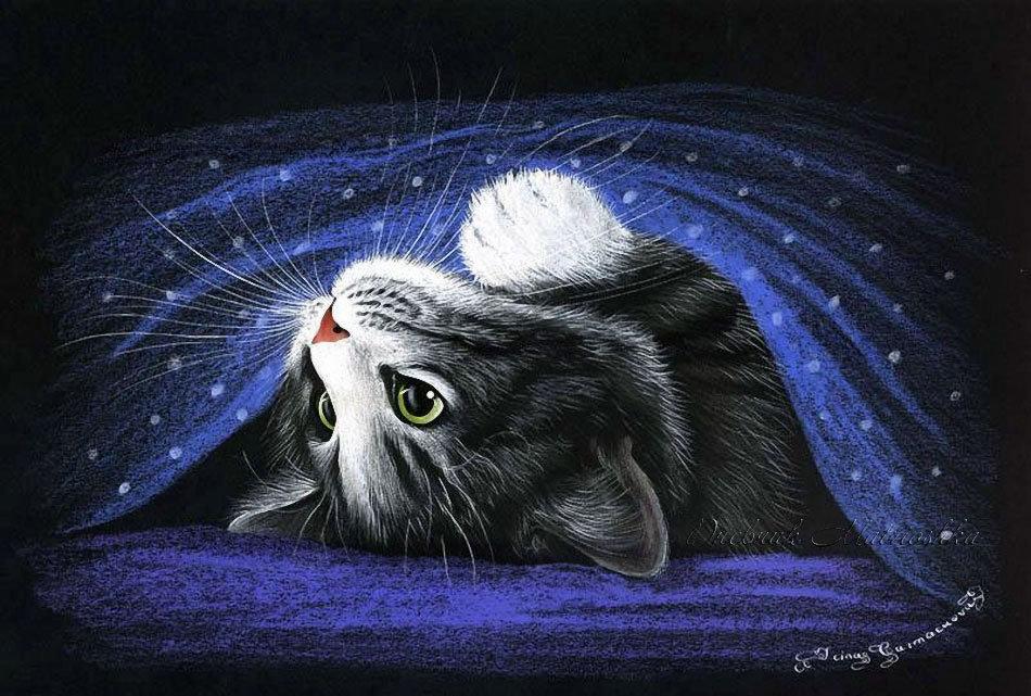 открытки с котами гармашовой только видит