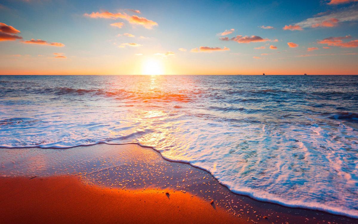 фото закат на море хорошего качества