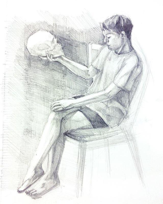 картинка сидящего человечка