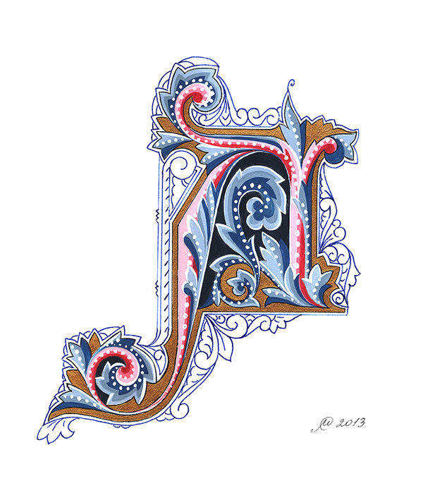 Картинка форзацы буквицы