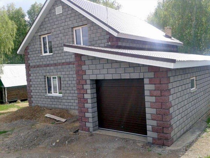 проект дома из шлакоблока