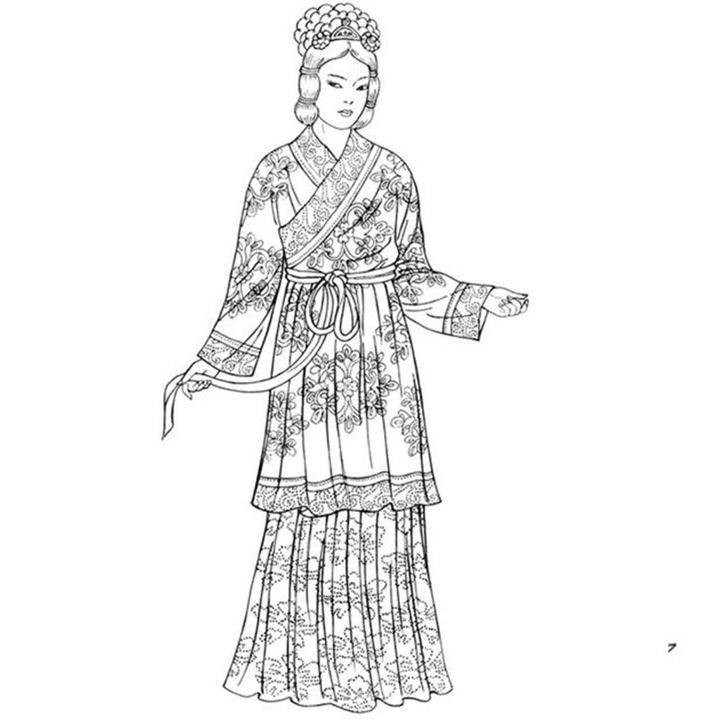 Картинки китайская одежда нарисованные
