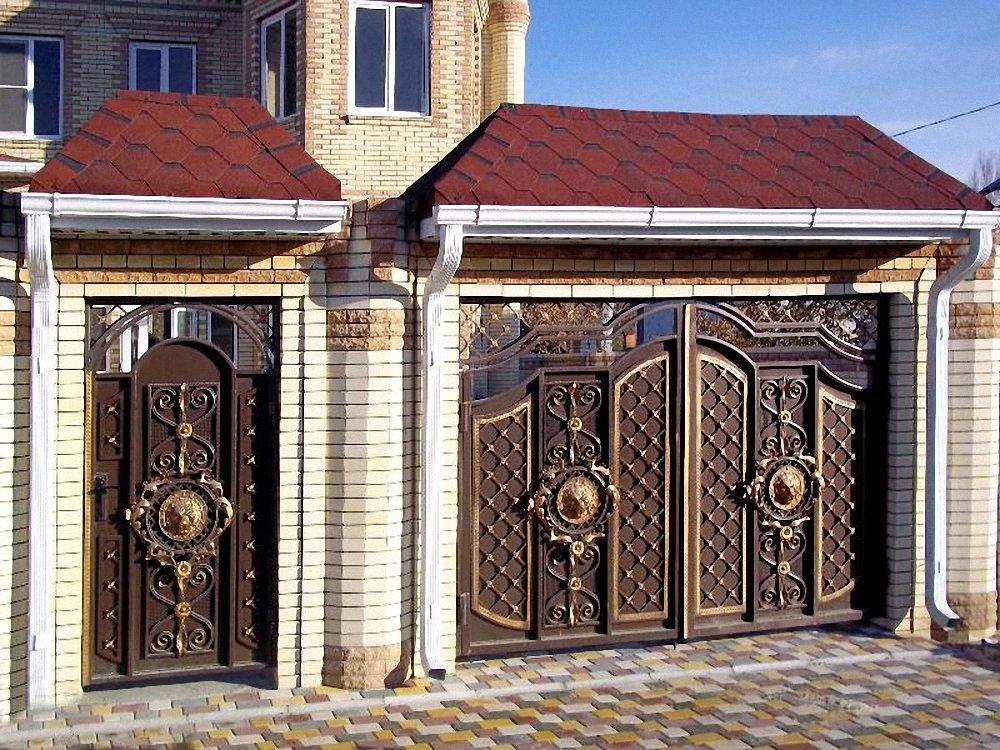 ворота для частного дома фото в узбекистане купить