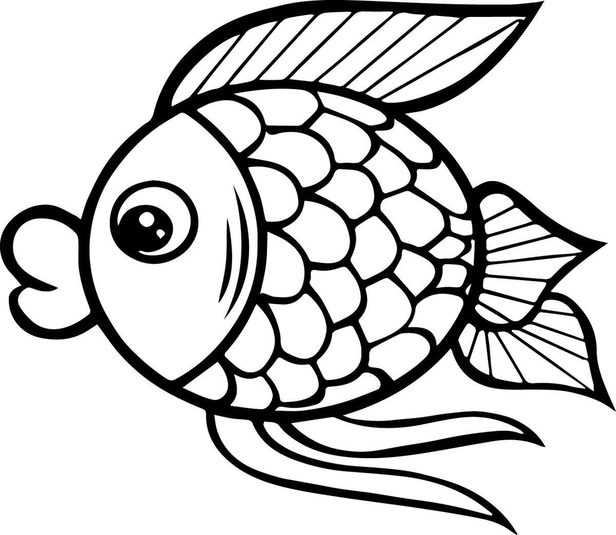 картинки мультяшных рыбок распечатать среди верующих