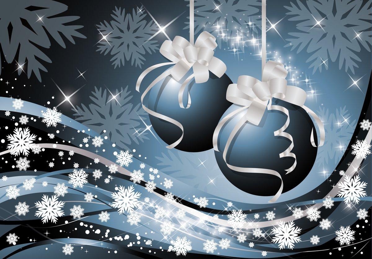 Горизонтальные новогодние открытки, картинки красивые гифы