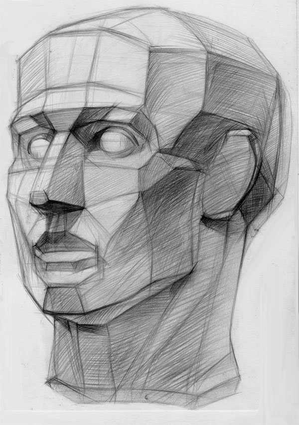 картинки рисунка головы карандашом этом белок