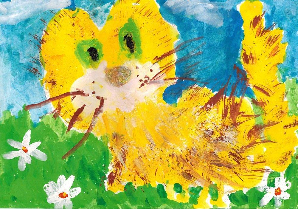 Веселый рисунок красками с ребенком 4 года, стихами