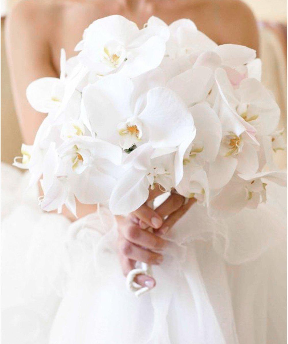 Букет из орхидей на свадьбу фото
