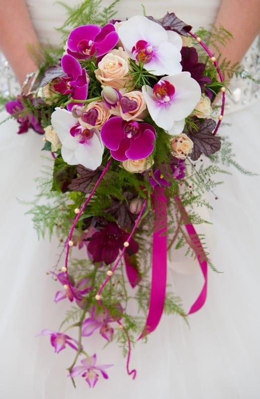 Европейские букеты из орхидеи каскадом, букет