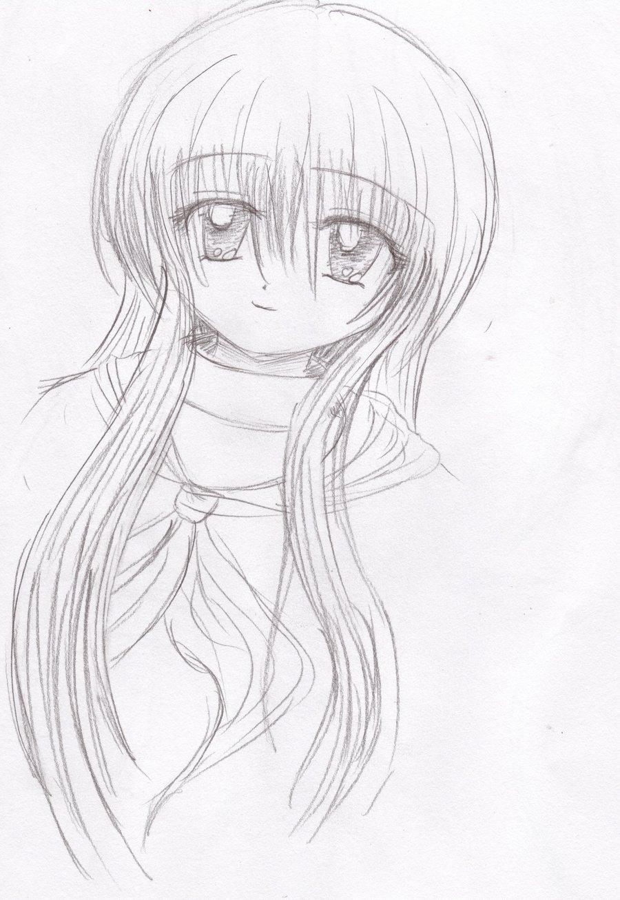 Аниме рисунки простым карандашом картинки