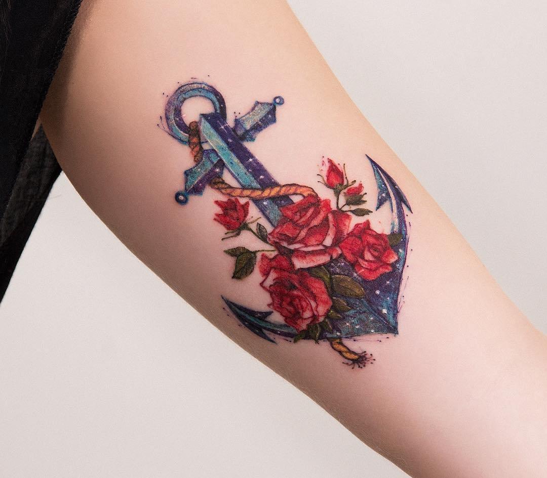 картинки якорь роза есть одного этих