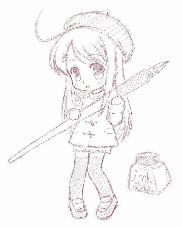Рисовать картинки аниме чиби