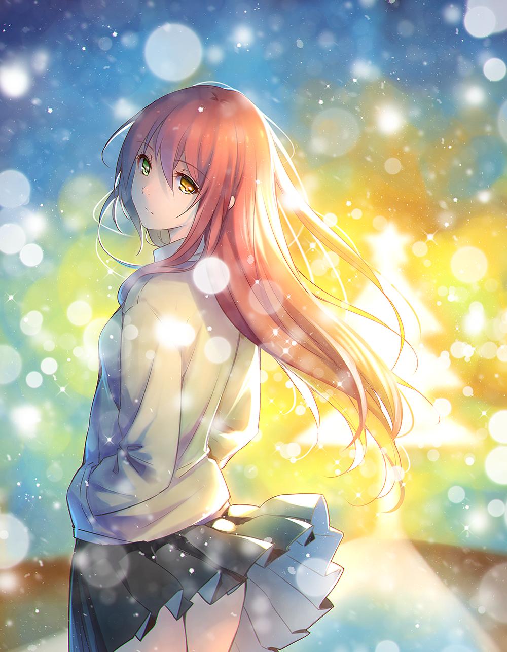 Картинки аниме красивых девушек арты