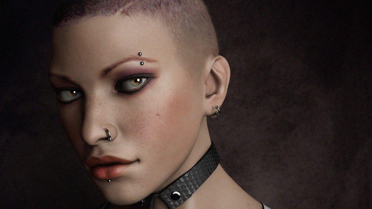 Фото крутым женщины с пирсингом