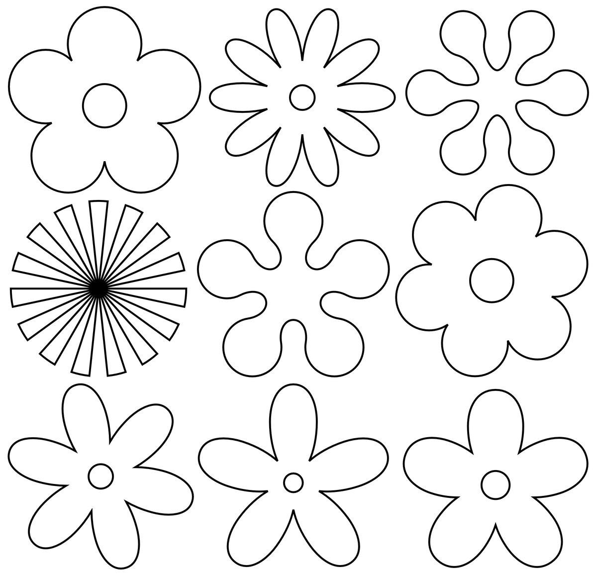 Для, шаблон цветов на открытках