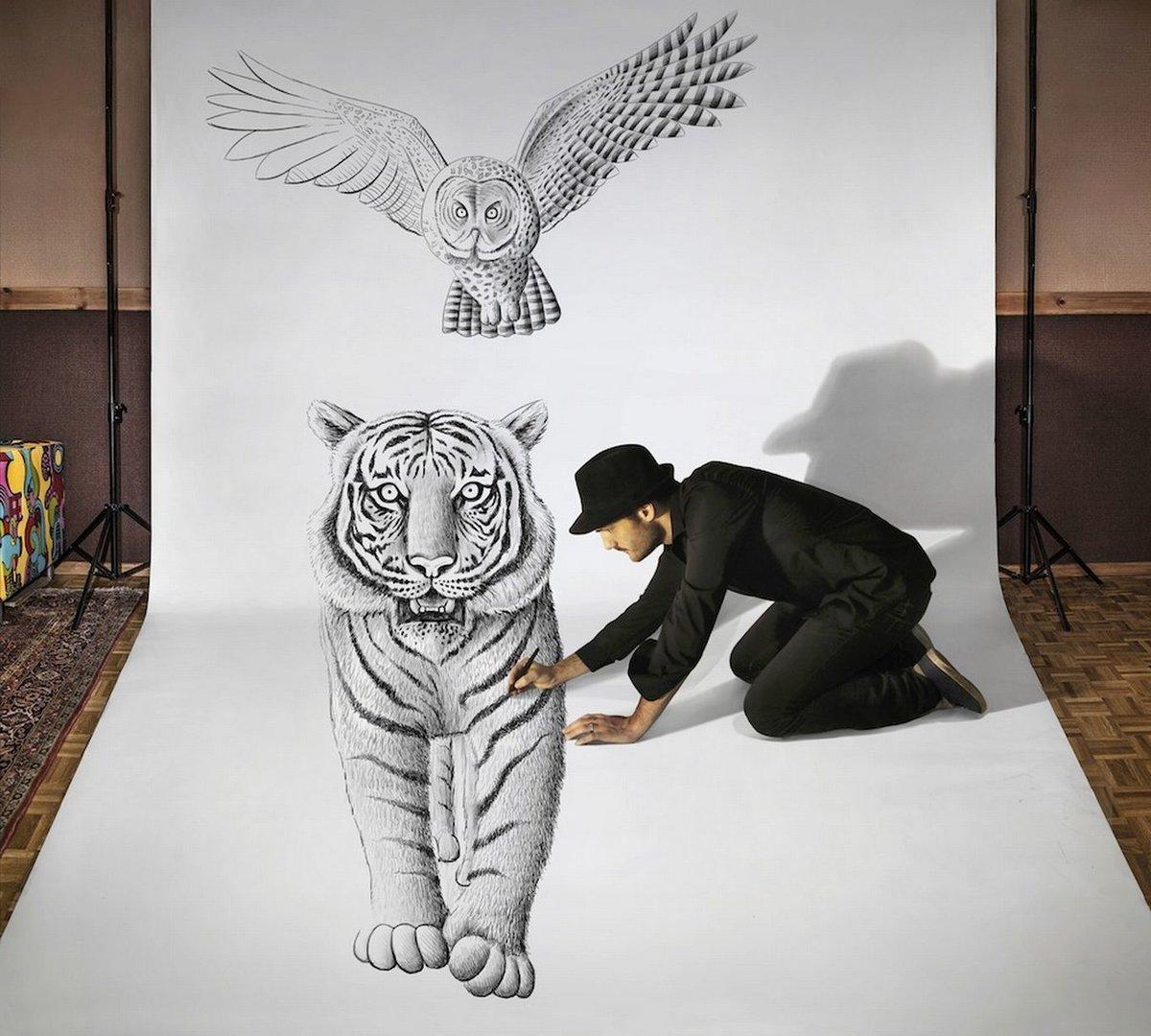 млекопитающее объемные рисунки животных пореченков один
