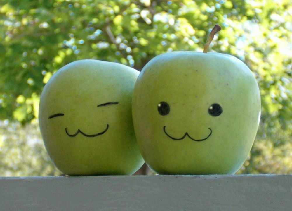 Яблоко картинка смешная, своими