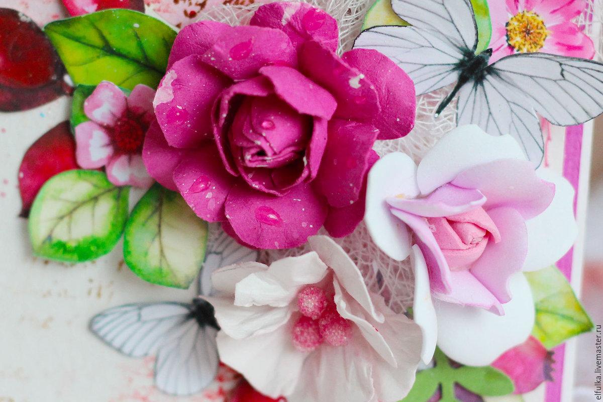 Открытка с цветами для мамы, поздравления родителей днем